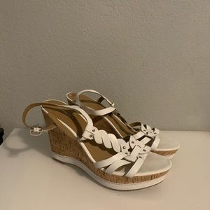 Brand new comfortable white wedges